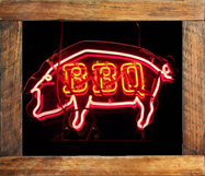 Neon bbq sign