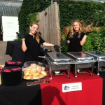 Serving Barbecue at Phipps Conservatory